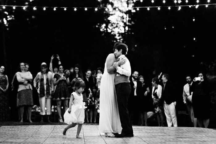 First dance same sex wedding with child